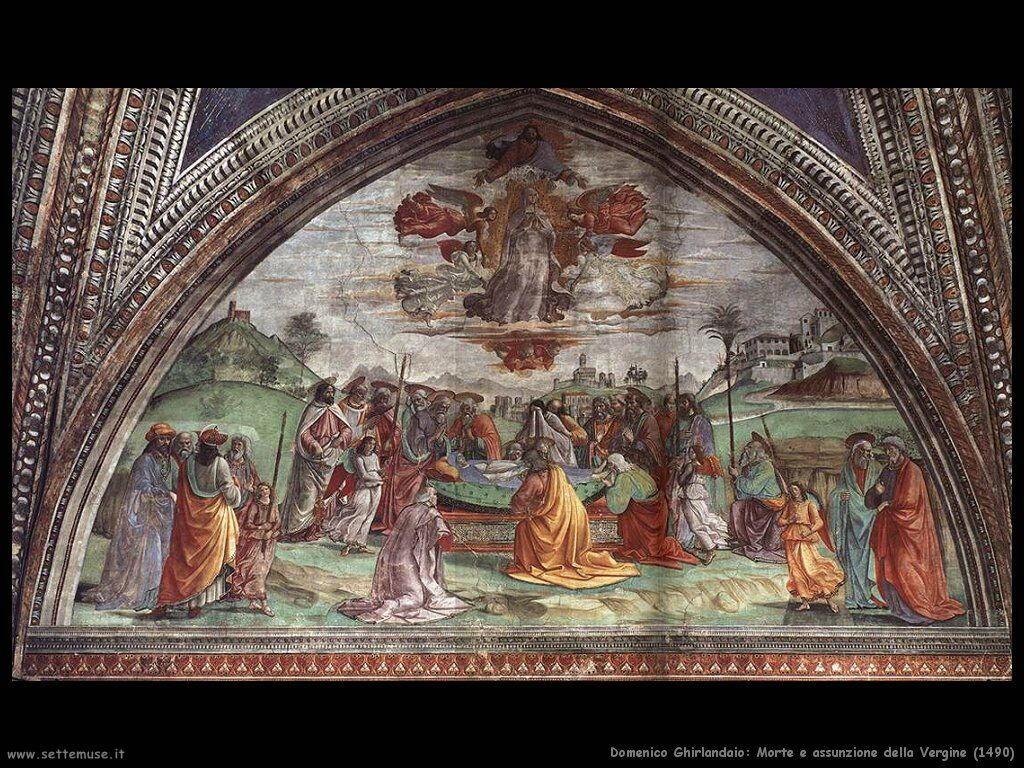 domenico ghirlandaio Morte e assunzione della Vergine (1490)