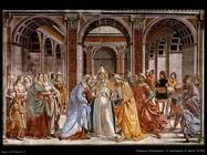 domenico ghirlandaio Matrimonio di Maria (1490)