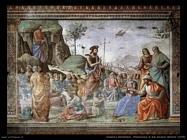 domenico ghirlandaio Predicazione di san Giovanni Battista (1490)