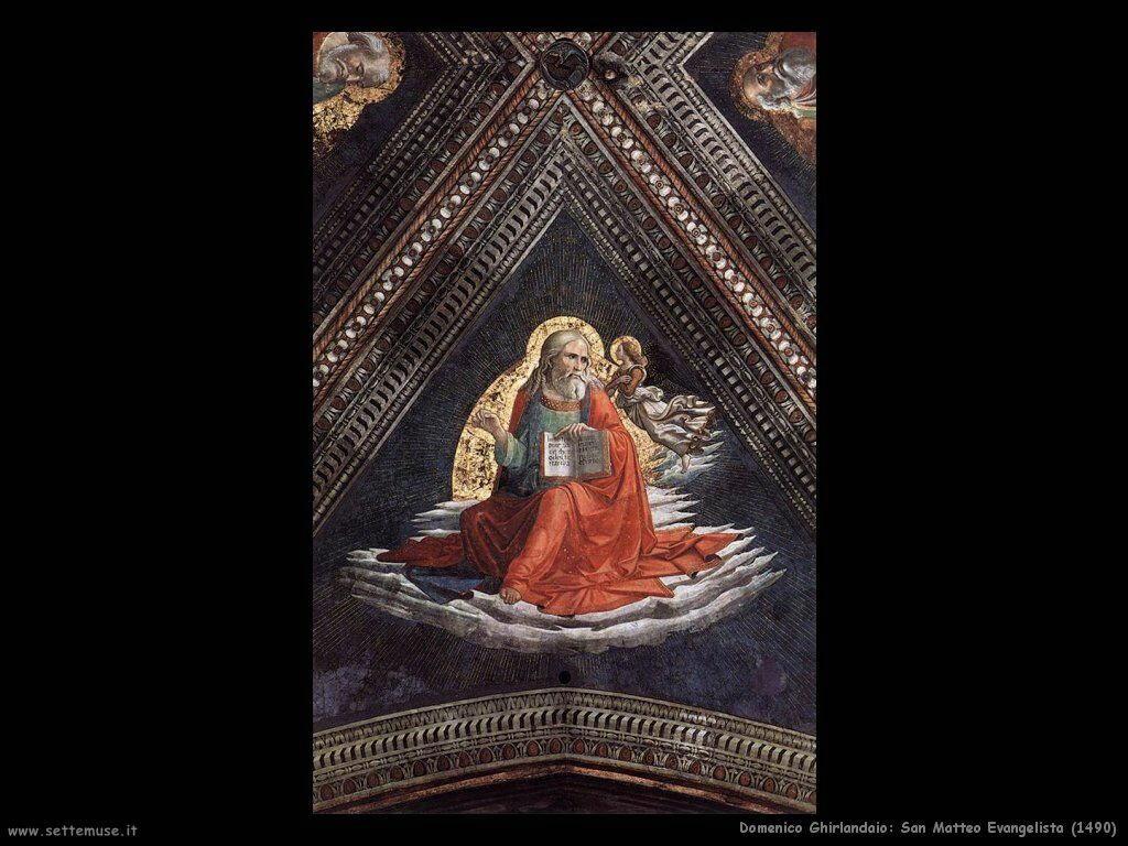 domenico ghirlandaio San Matteo Evangelista (1490)