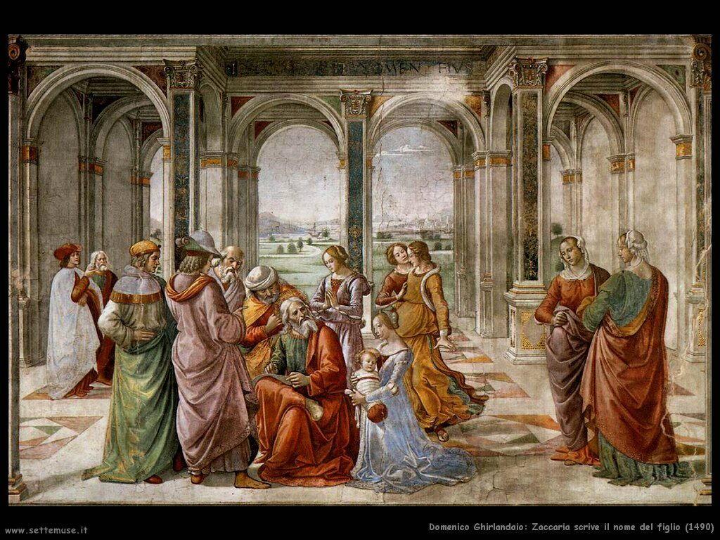 Zaccaria scrive il nome del figlio (1490)