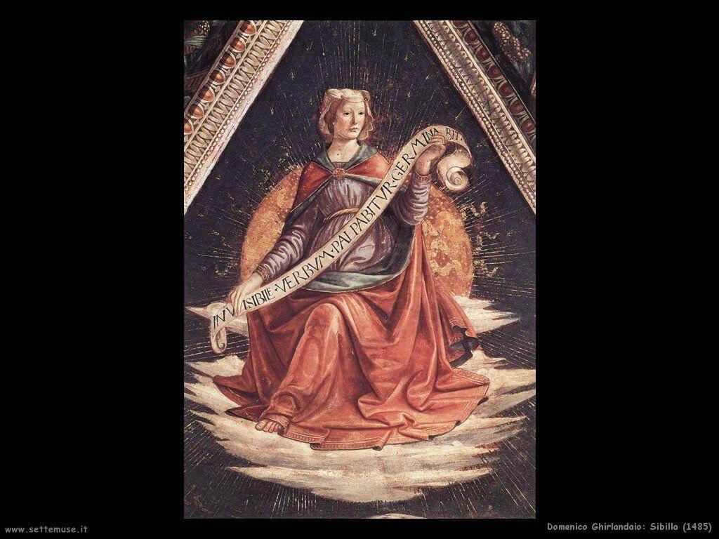 domenico ghirlandaio Sibilla (1485)