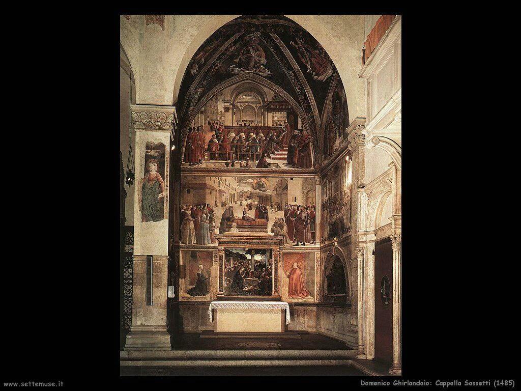 domenico ghirlandaio Cappella Sassetti (1485)