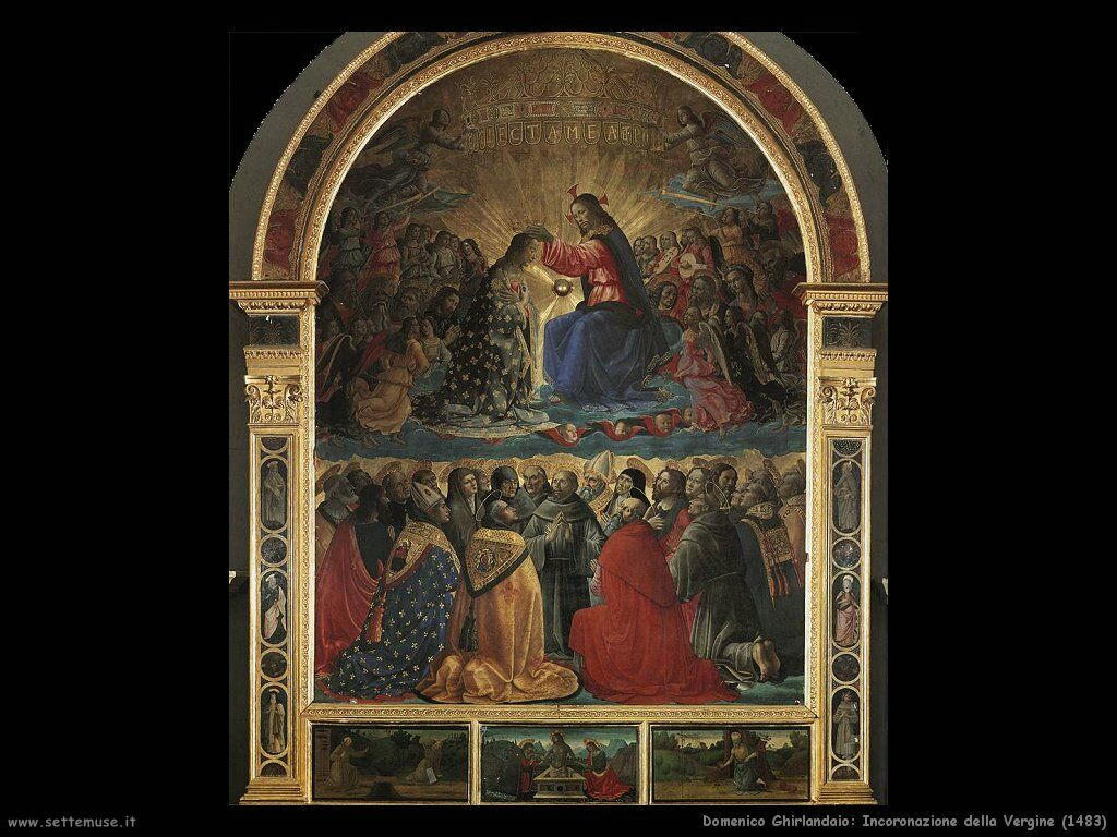 domenico ghirlandaio Incoronazione della Vergine (1483)