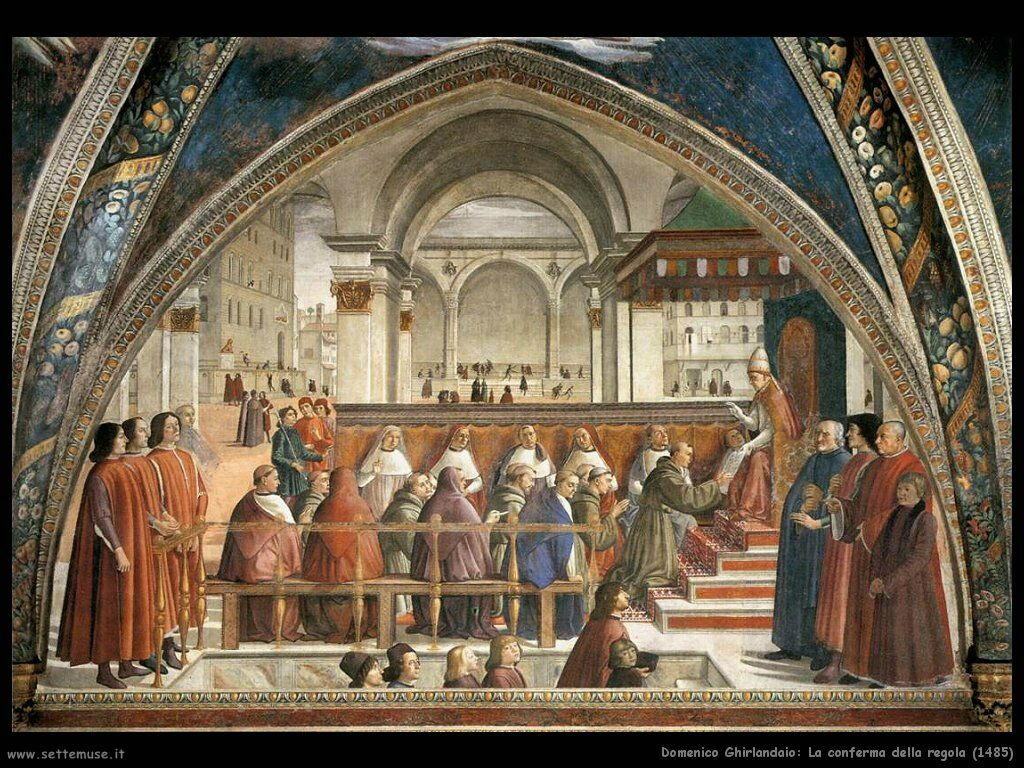domenico ghirlandaio La conferma della regola (1485)