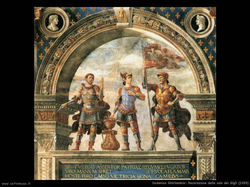domenico ghirlandaio Decorazione sala dei Gigli (1484)