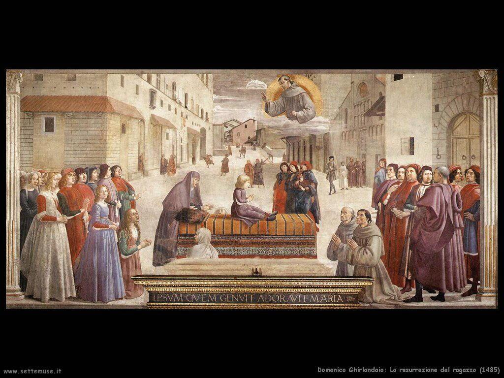 La resurrezione del ragazzo (1485)