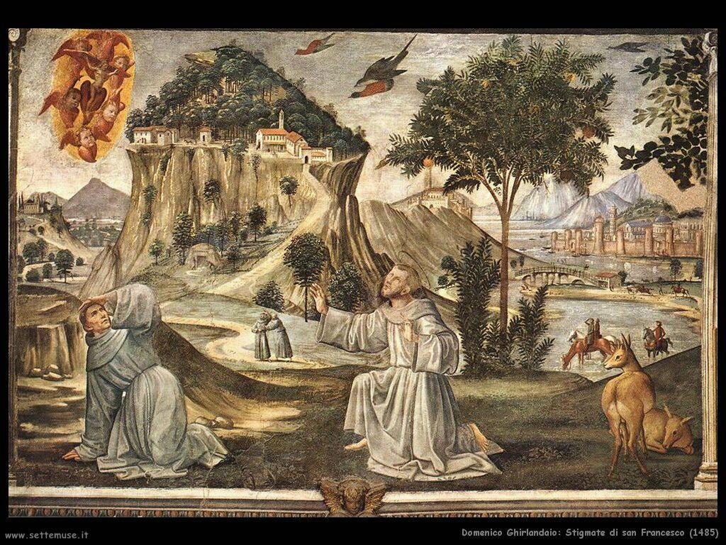 domenico ghirlandaio Stigmate di san Francesco (1485)