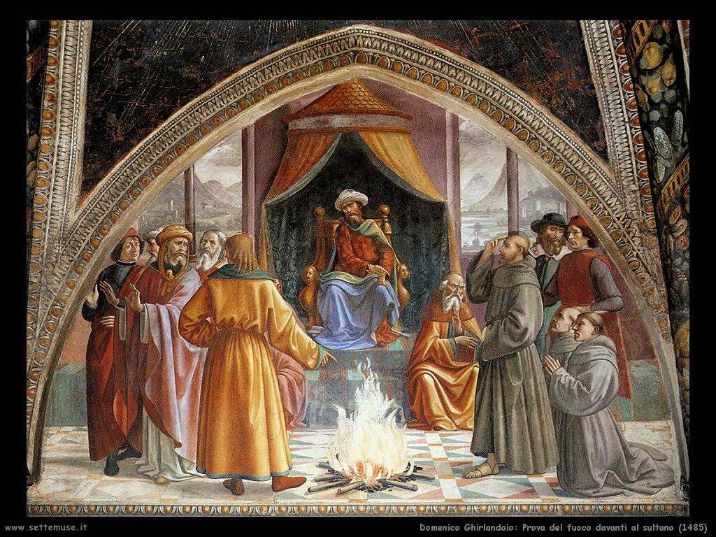 Prova del fuoco davanti al sultano (1485)