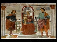 Madonna, Bambino, san Sebastiano, san Giuliano (1473)