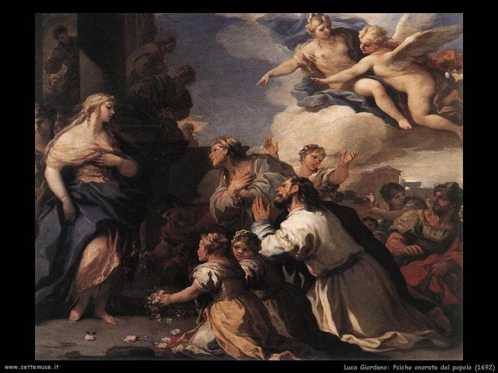 Luca Giordano Psiche onorata dal popolo (1692)