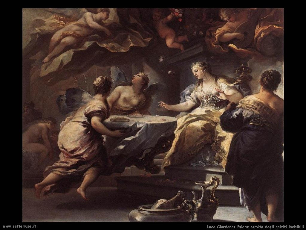 Luca Giordano Psiche servita dagli spiriti invisibili (1702)