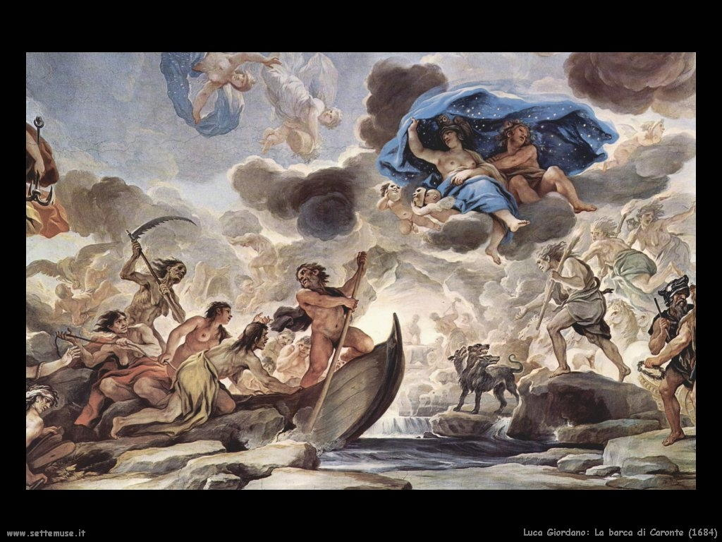 Luca Giordano La barca di Caronte (1684)