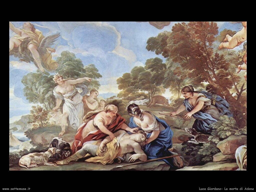 Luca Giordano La morte di Adone