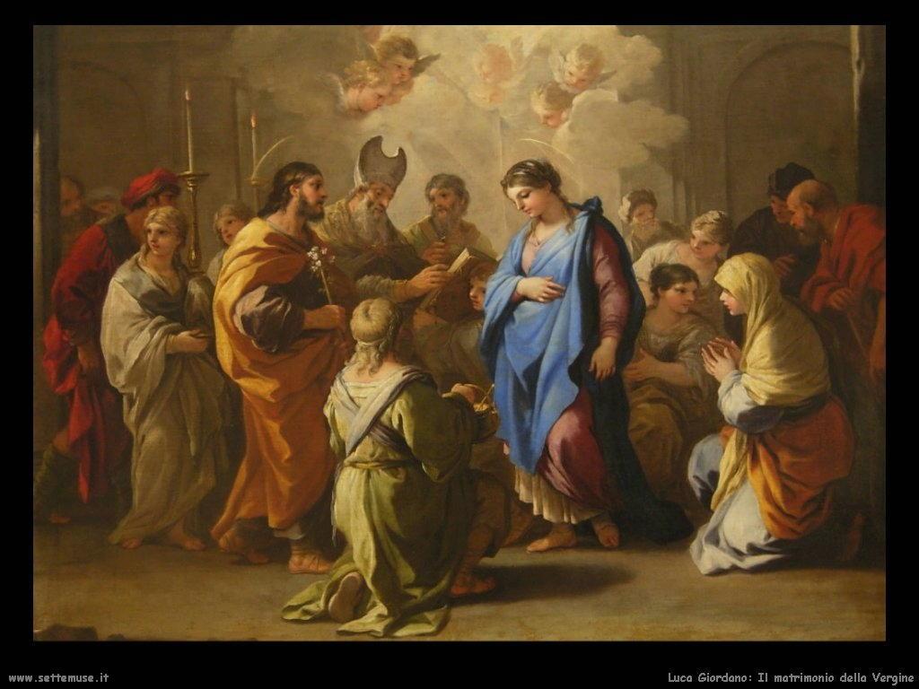 Luca Giordano Il matrimonio della Vergine