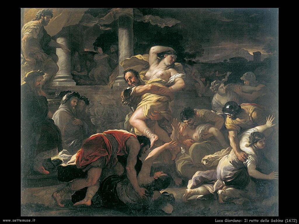 Luca Giordano Il ratto delle Sabine (1672)