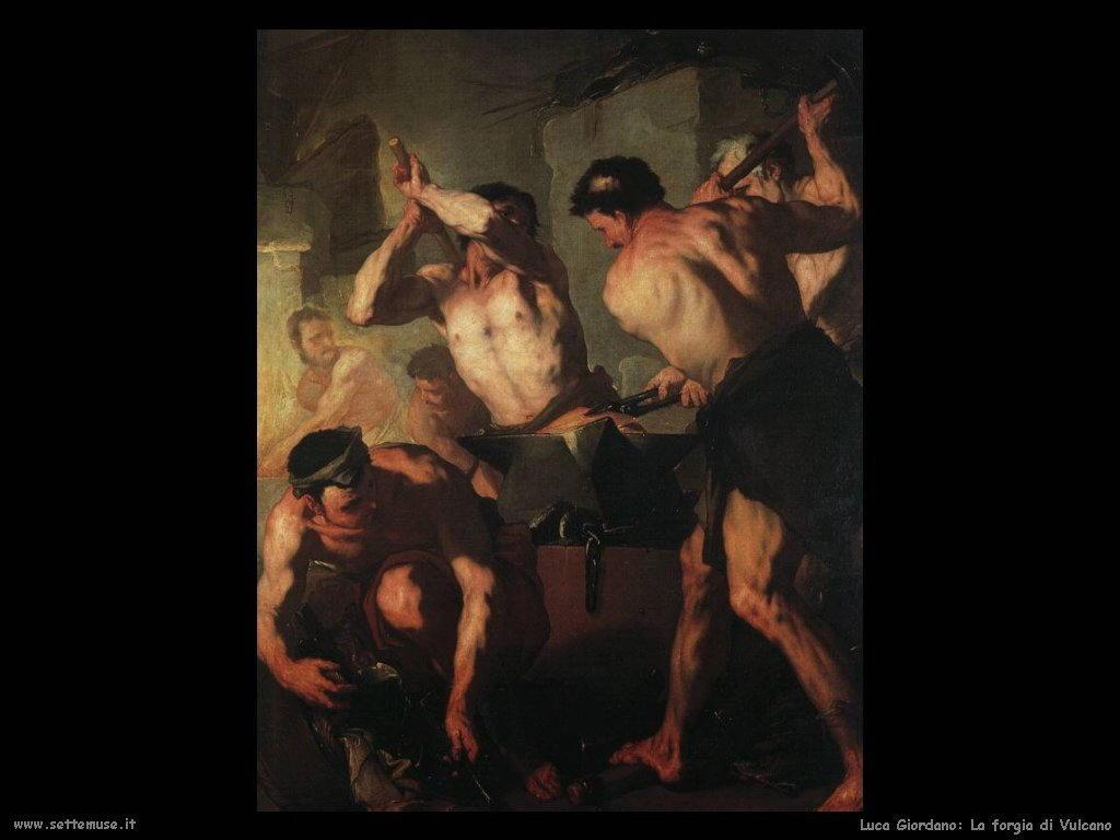 Luca Giordano - La forgia di Vulcano