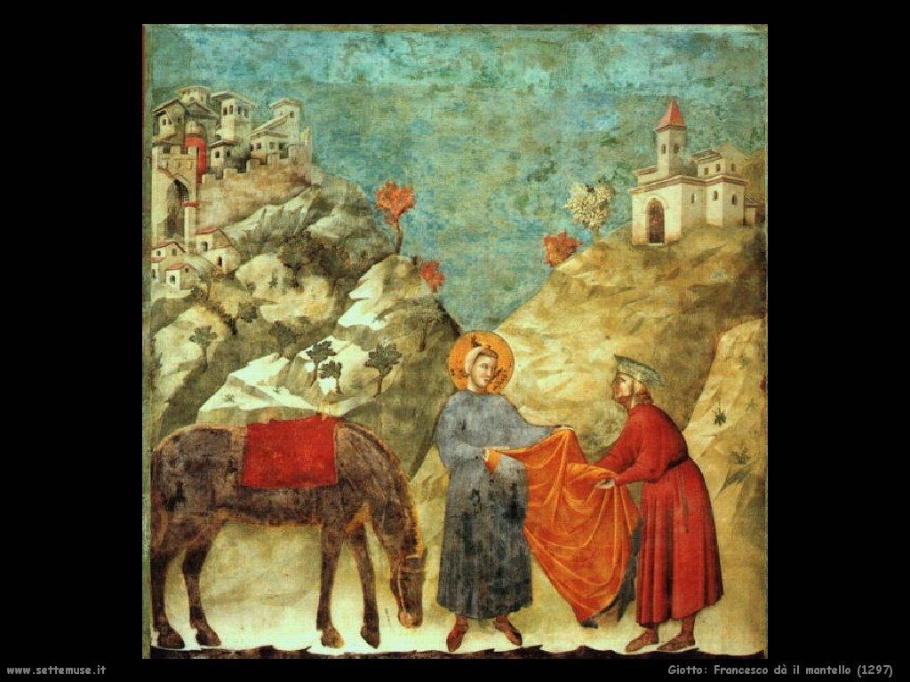 Giotto Francesco dona il mantello (1297)