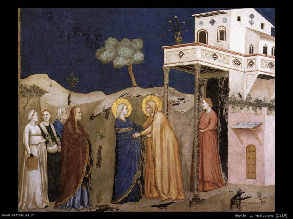 Giotto La visitazione (1310)