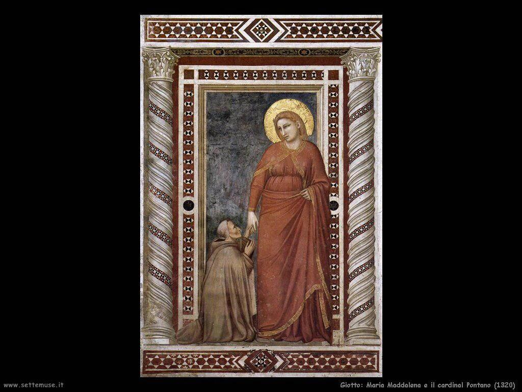 giotto Maddalena e cardinal Pontano (1320)