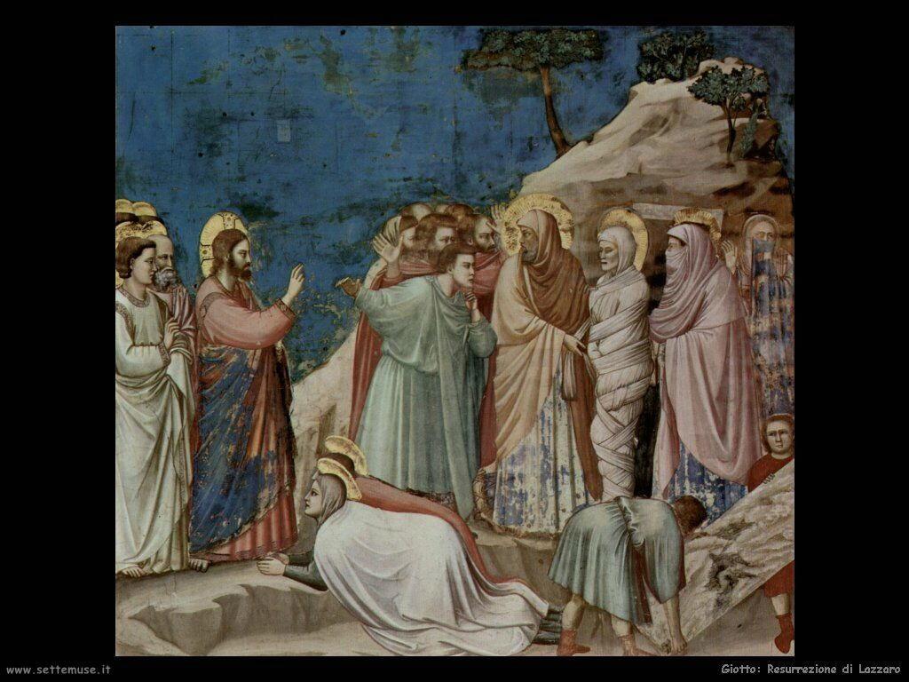 giotto Resurrezione di Lazzaro