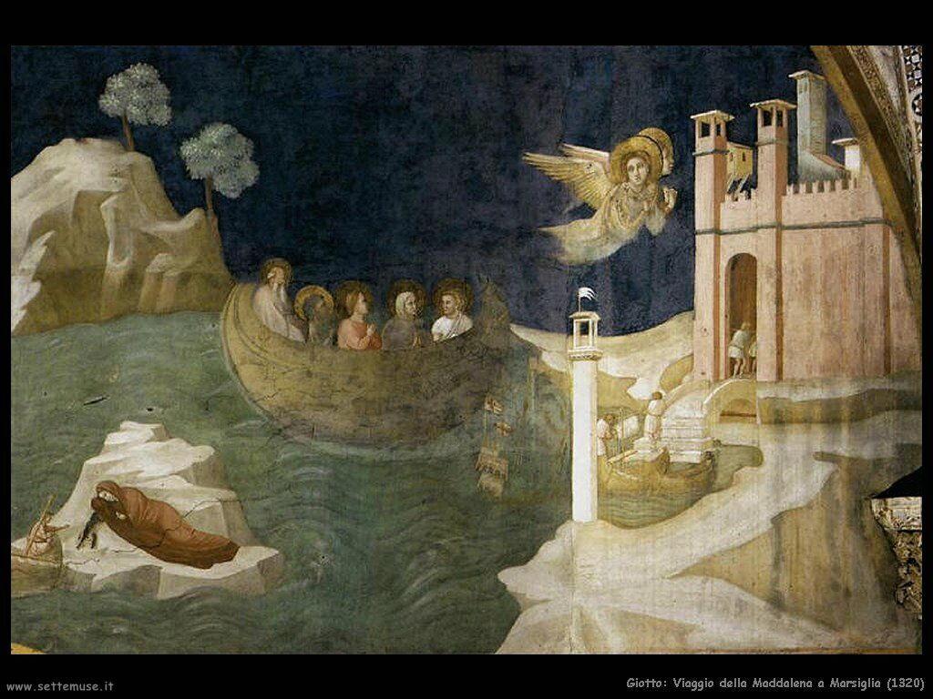giotto Viaggio della Maddalena a Marsiglia (1320)