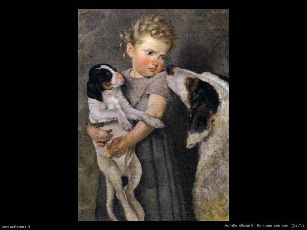 Bambina con cani (1875)