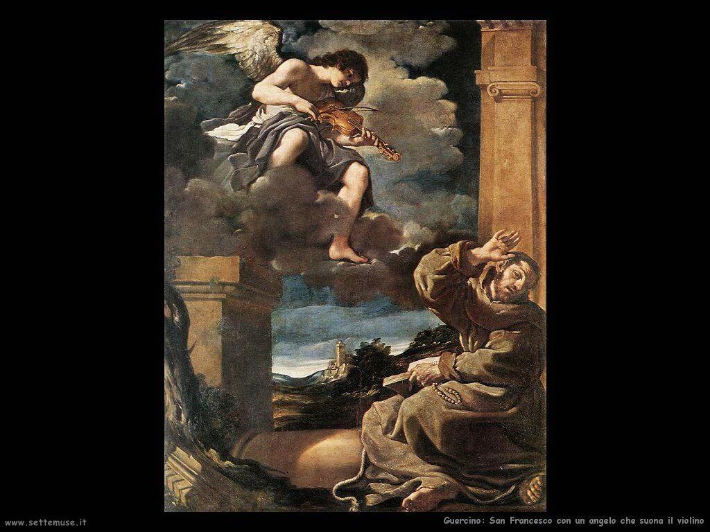 San Francesco con angelo che suona il violino