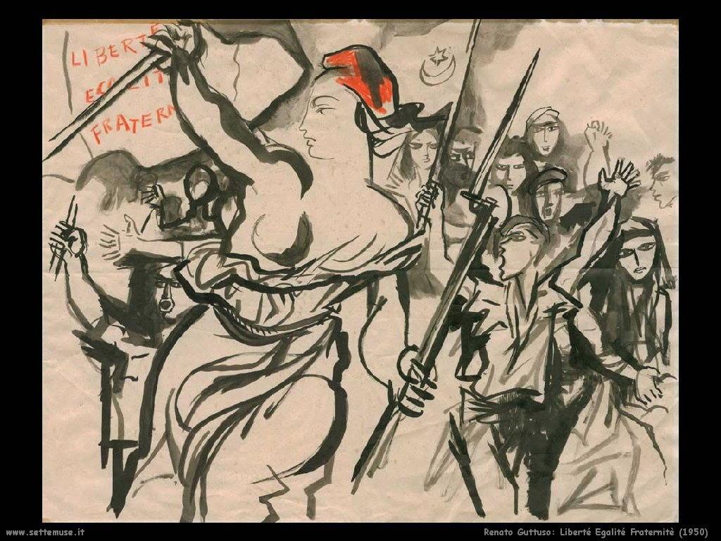 renato guttuso Liberté Egalité Fraternité (1950)
