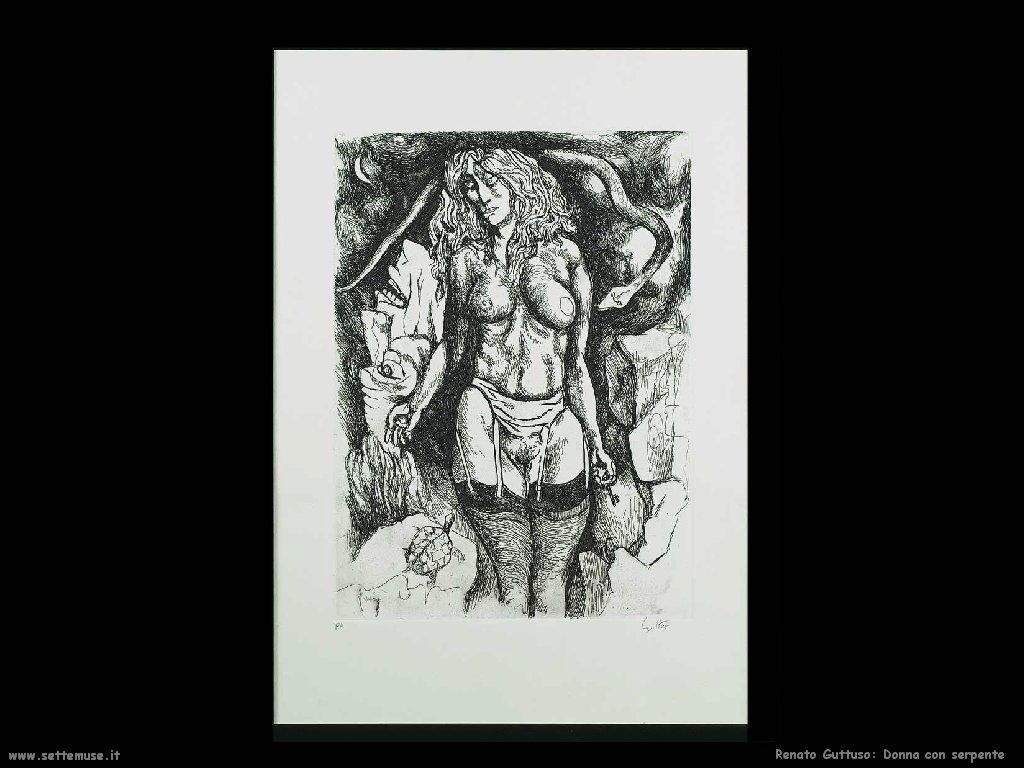 renato guttuso donna con serpente
