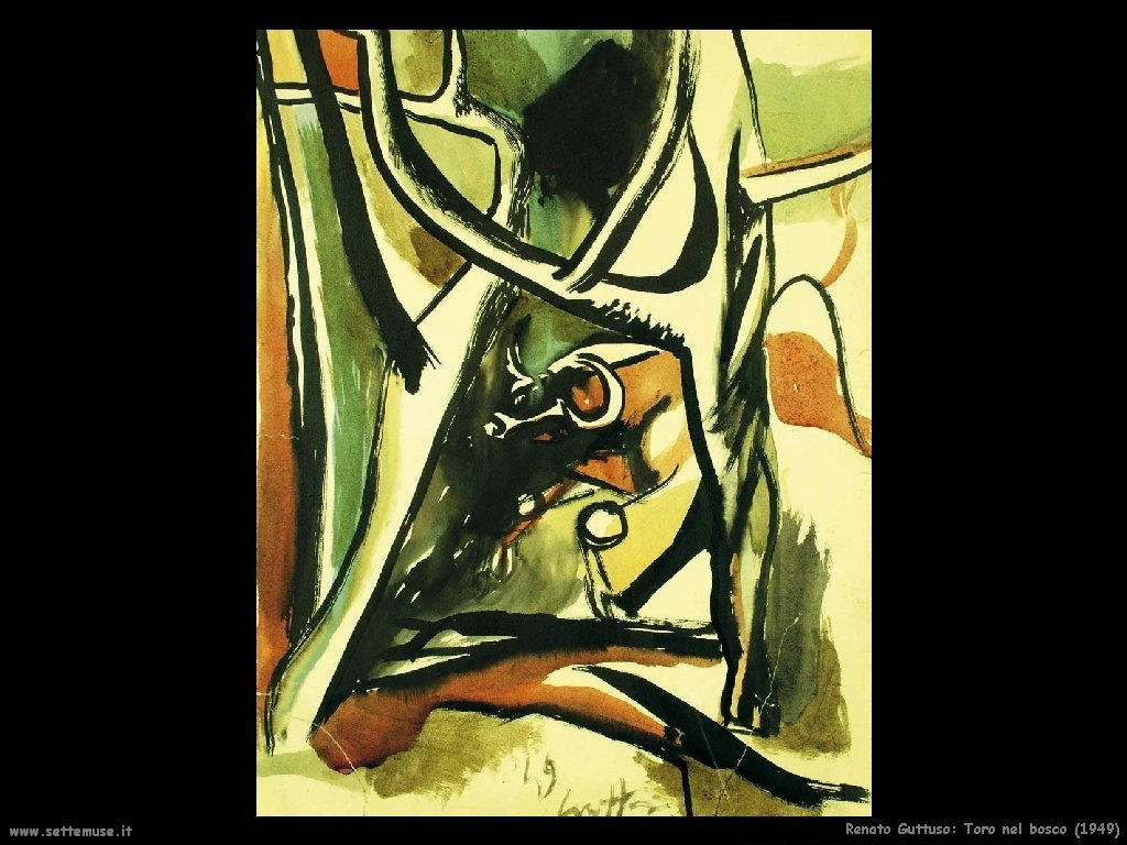 renato guttuso Toro nel bosco (1949)
