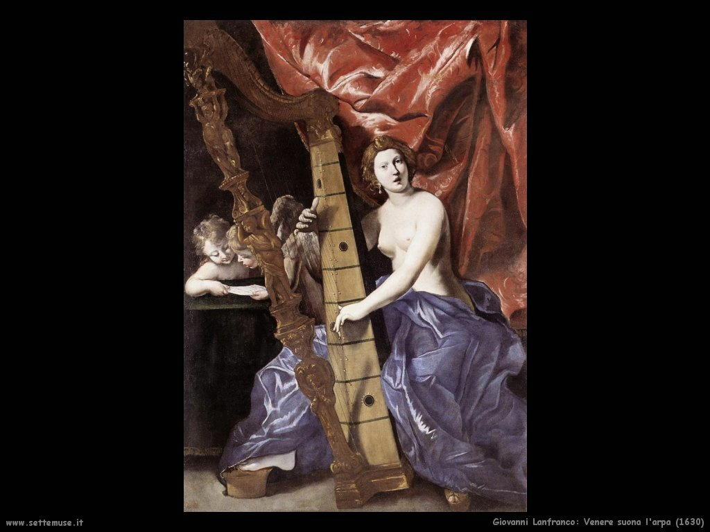 giovanni lanfranco Venere suona l'arpa (1630)