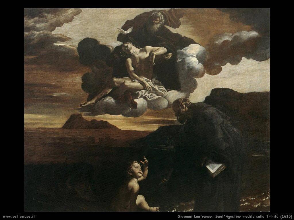 giovanni lanfranco Sant'Agostino medita sulla Trinità (1615)