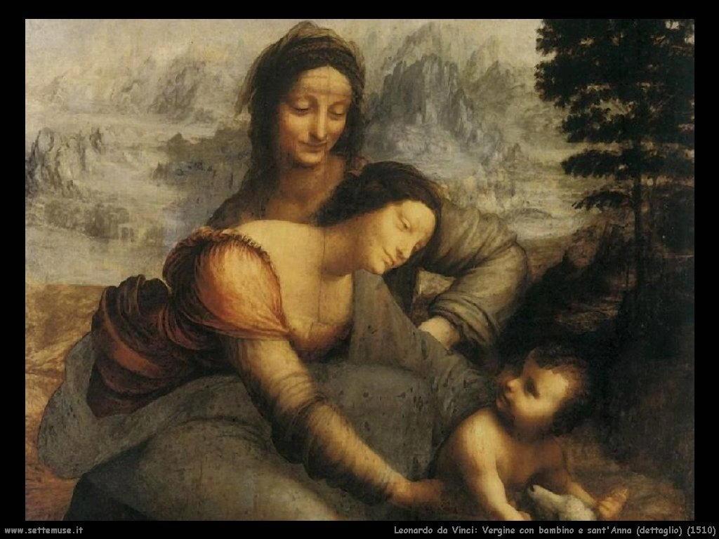 Sant'Anna con Maria e Gesù - Leonardo da Vinci