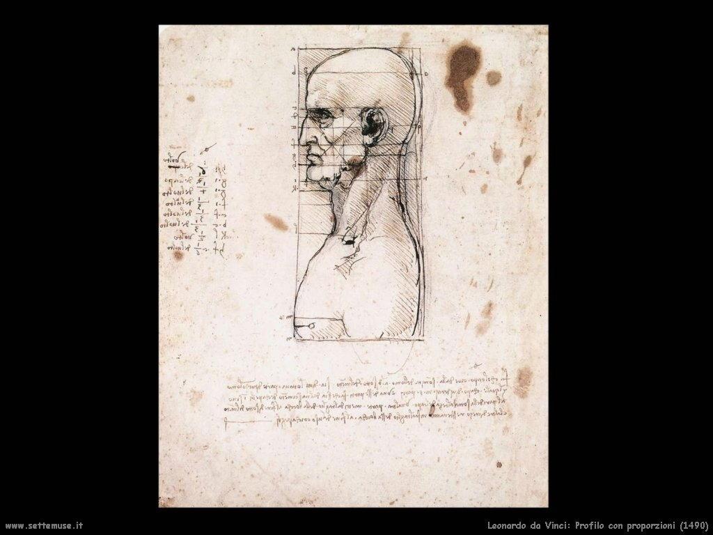 Profilo con proporzioni del viso (1490)