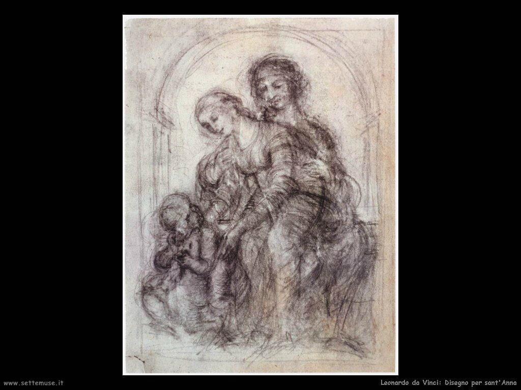 Leonardo da Vinci: disegno per sant'Anna