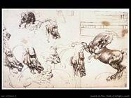 da vinci battaglia con cavallo