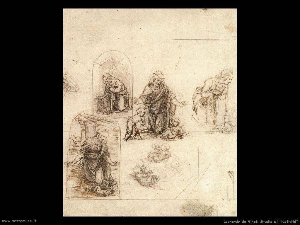 Leonardo da Vinci studio natività