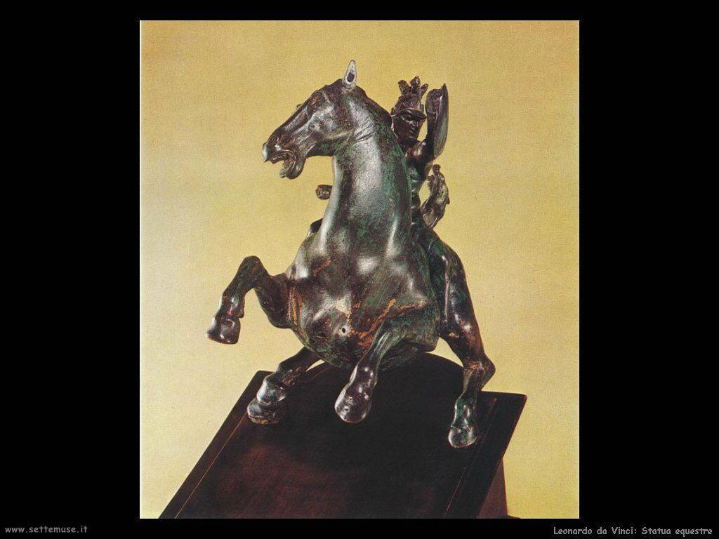da vinci statua cavallo