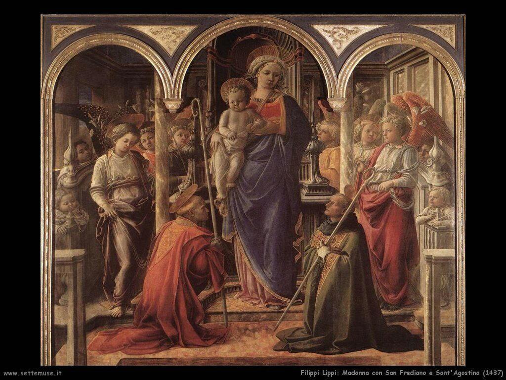 Madonna con San Frediano e Sant'Agostino (1437)
