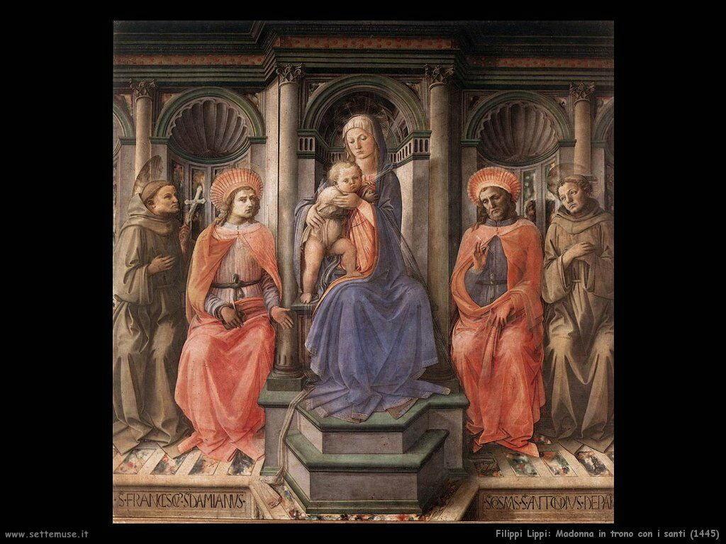 Madonna in trono con santi (1445)