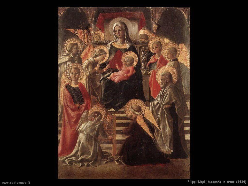 Filippo Lippi Madonna in trono (1430)