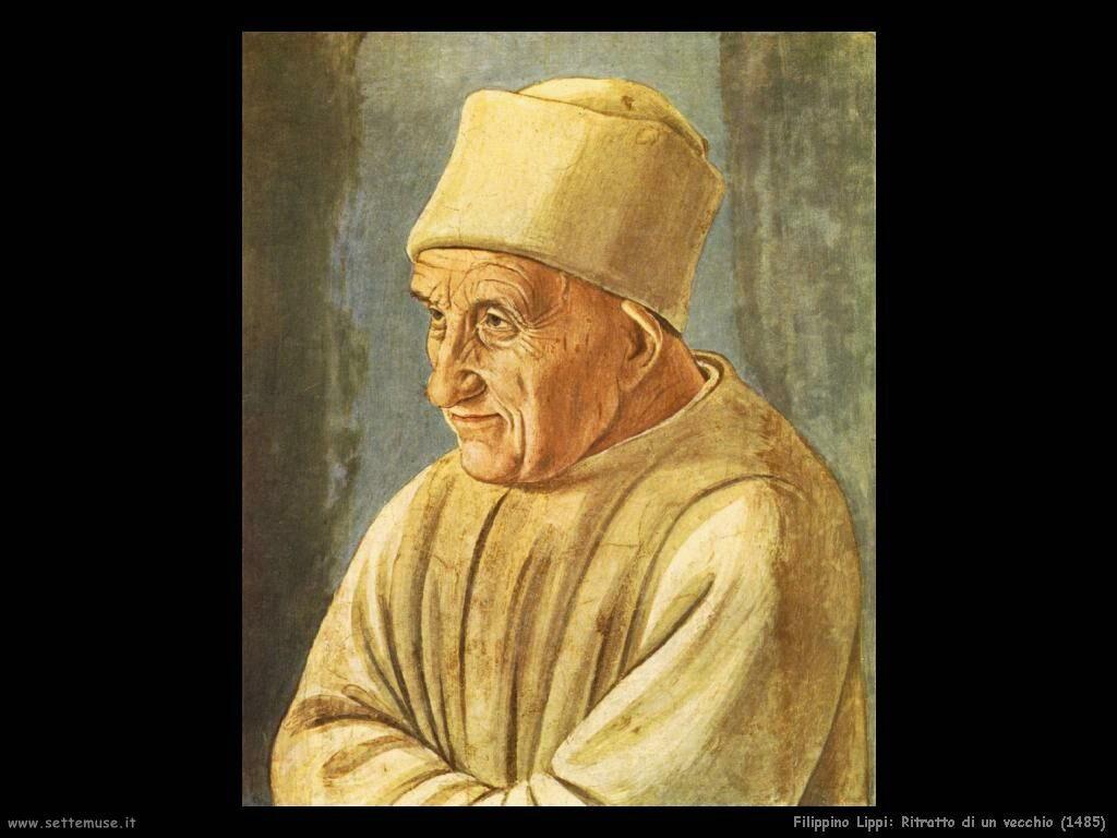 Filippino Lippi ritratto di un vecchio