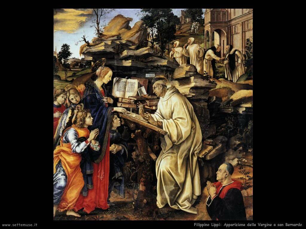 Filippino Lippi apparizione della vergine a san bernardo
