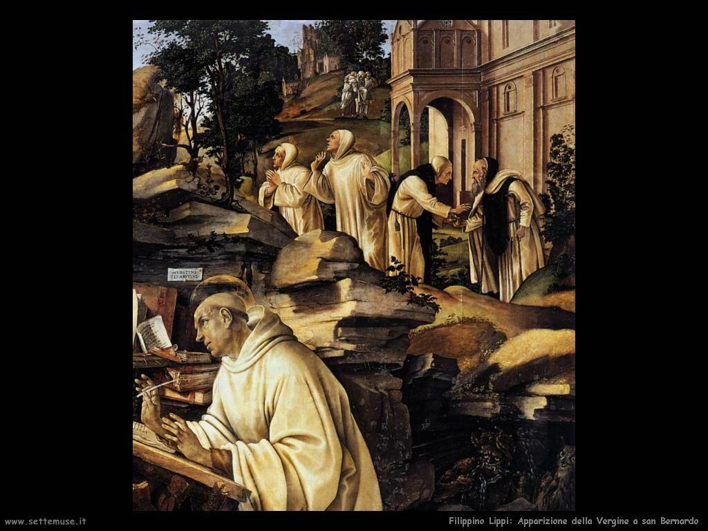 Filippino Lippi apparizione della vergine a san bernardo 2
