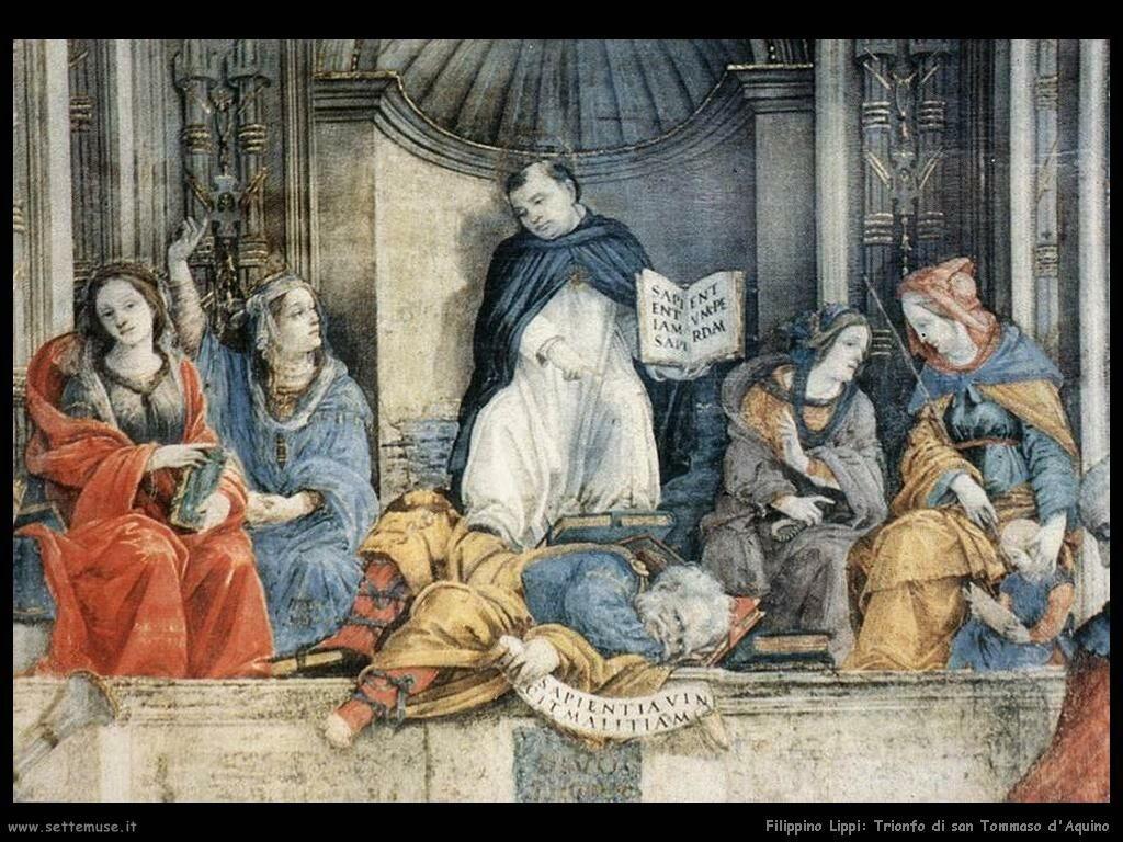 Filippino Lippi trionfo di san tommaso aquino