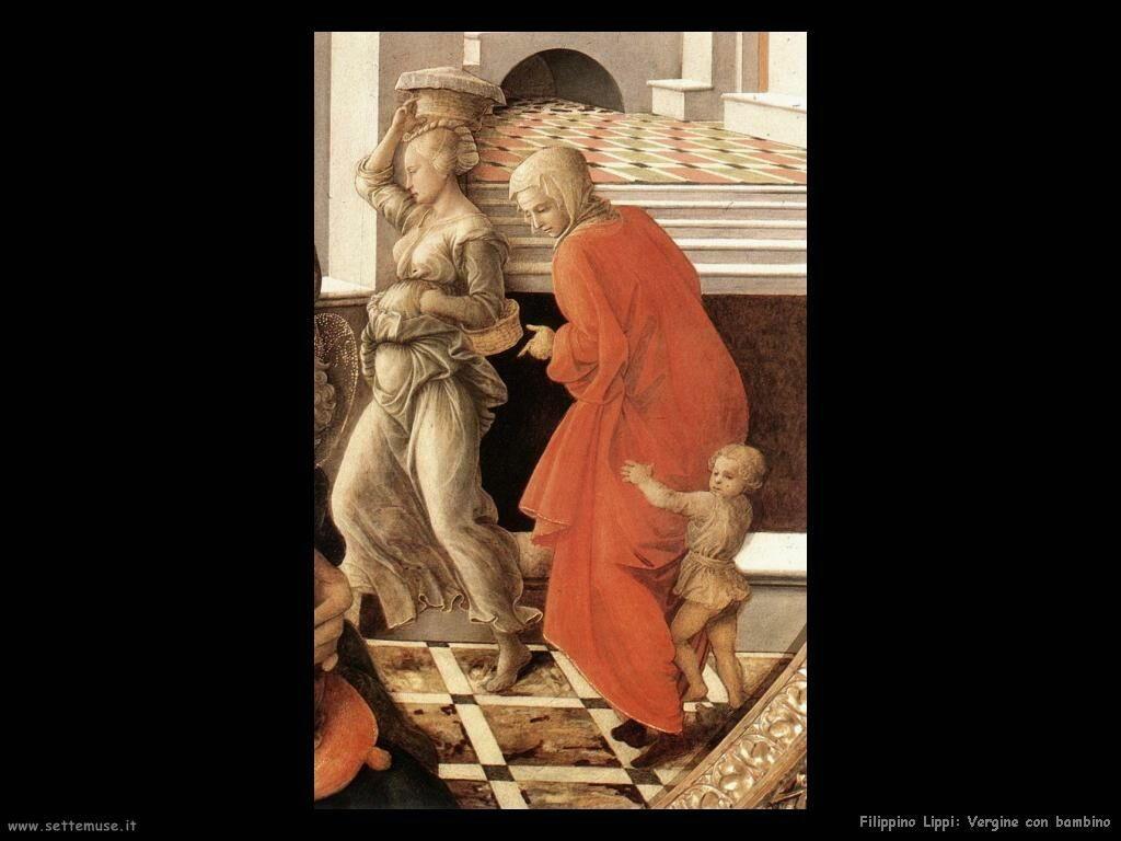 Filippino Lippi vergine con bambino