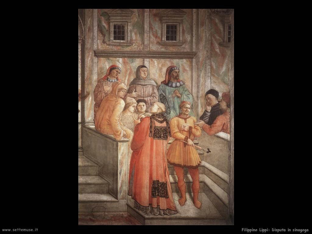 Filippino Lippi disputa in sinagoga