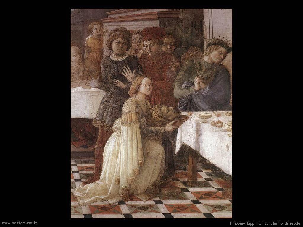Filippino Lippi banchetto di erode