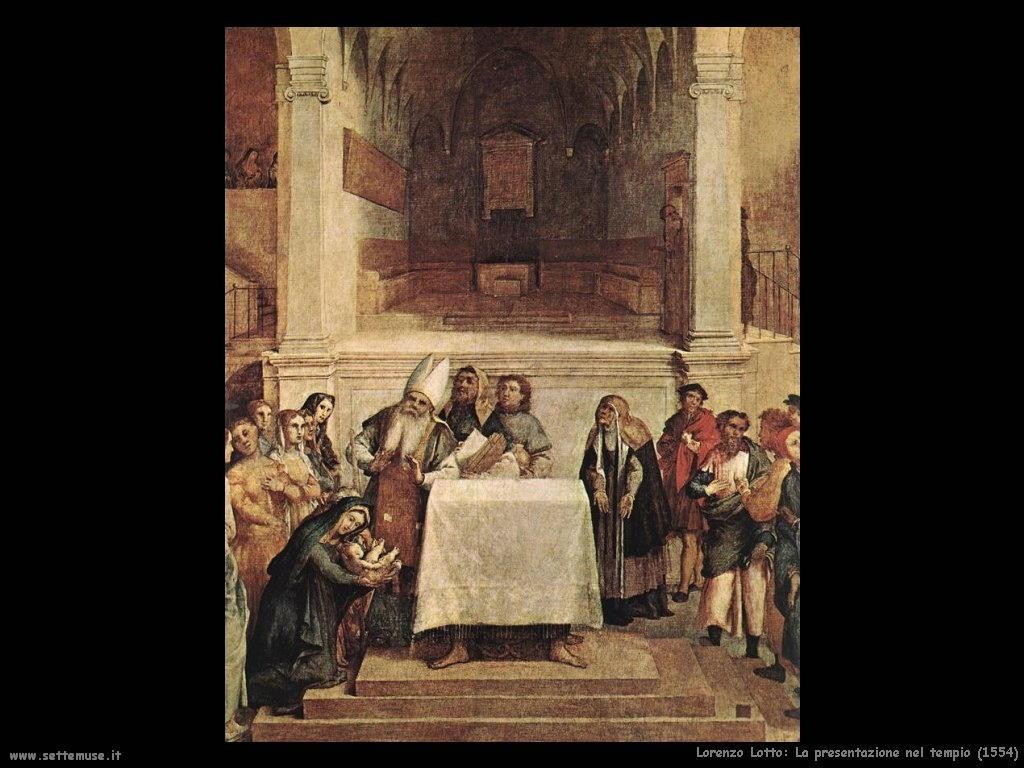 Lorenzo Lotto Presentazione nel tempio (1554)